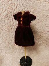 Blythe Doll Outfit Clothing velvet Red Dress