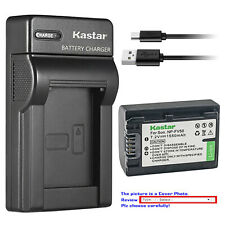 Kastar Battery Slim Charger for Sony NP-FV50 & Sony FDR-AX33 FDR-AX53 NEX-VG10