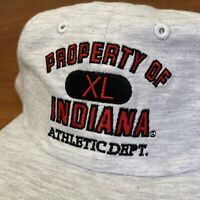 Indiana Hoosiers Hat Snapback Cap Gray Vintage 90s University College Adult NEW