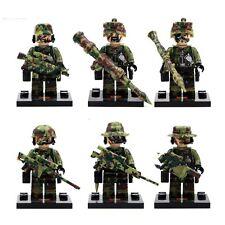 6pcs SWAT Police Falcon Commandos Marine Corps minifigure blocks toys lego