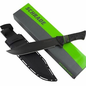 Schrade Leroy Fixed Blade Survival Bowie Grooved Knife SCHF45 Sheath Full Tang