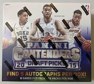 2015-16 Panini Contenders Draft Picks Basketball Hobby Box - 5 Autographs