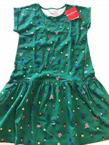 Hanna Andersson Floral Dress 130 Or Girl Size 8 NEW