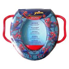 Riduttore WC per Bambini Sedile Morbido Copri Water Marvel Spiderman Grigio Blu