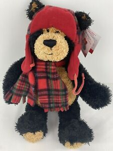 GUND Teddy B Caring Bear Plush Stuffed Office Depot Red Hat Plaid Scarf 46074
