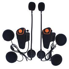BT-S2 Waterproof Bluetooth Interphone Motorcycle Helmet Intercom Headset & FM