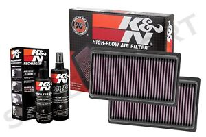 Two K&N 33-5014 Hi-Flow Air Intake Drop in Filters +99-5050 Cleaning Kit