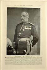 1898 Imprimé Majeur Général le Guay Geary