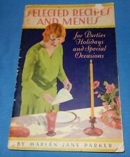 Vintage Circa 1930's Selected Recipes Parties Holidays Special Occasions Calamut