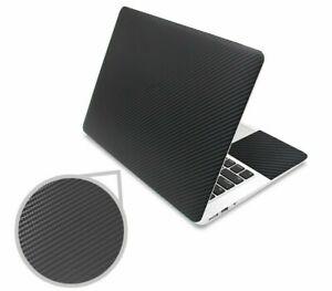 Black 3d Carbon Fiber Laptop Skin Sticker 15.6 Vinyl Stickers For Notebook Decal