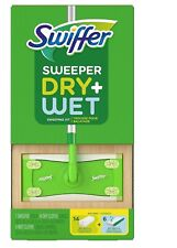 Swiffer Sweeper Dry + Wet Sweeping Kit - 1 Sweeper + 14 Dry Cloths + 6 Wet Cloth