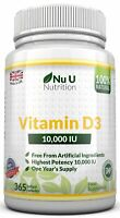 Vitamin D3 10000iu High Strength 365 Soft Gel capsules Vitamin D 10,000iu Vit d3