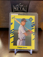 1990 Classic Yellow Chipper Jones Atlanta Braves #T92 Baseball Card HOF MLB