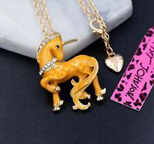 Enamel Yellow Unicorn Brooches Jewelry New Betsey Johnson Rare Alloy Rhinestone