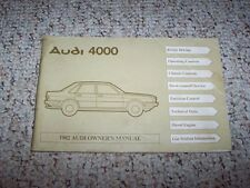1982 Audi 4000 & 4000 Quattro Factory Original Owner's Owners User Manual