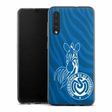 Samsung Galaxy A30s Handyhülle Silikon Hülle Case Zebra Dunkelblau MSV