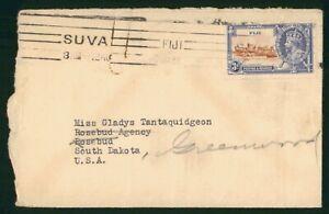 MayfairStamps Fiji Suva to Rosebud South Dakota 1935 Cover wwp62333