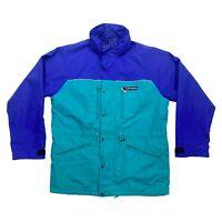 Berghaus Hooded Outdoor Jacket | Vintage 90s Hiking Activewear Blue Green VTG