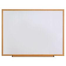Universal One Dry Erase Board Melamine 48 X 36 Oak Frame 43618 New