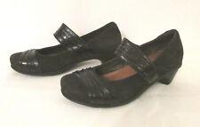 NAOT Attitude Women's Mary Jane Shoes Pumps 37 6.5 Black Velvet Nubuck Leather