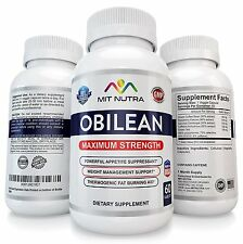 1CT OBILEAN Appetite Suppressant Rapid Weight Loss Diet Pills Like Adipex 37.5