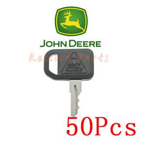 50pcs Fit John Deere Utility Vehicles Key AM131841 Ditch Witch Cub Equipment