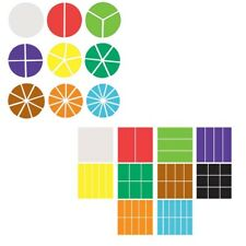 Plastic Fraction Squares and Circles Pieces Teaching Resources