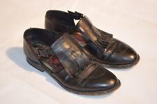 Paul Smith Black Leather Tassel Open Buckle Loafers Men Only Womens EU38 UK5