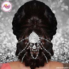 Bridal silver white Traditional Hair Bun Joora Accessory Bun Pin Indian Jewelry