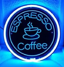 "12""x12"" Espresso Coffee Cafe 3D Carved Neon Sign Beer Bar Pub Lamp Light Decor"