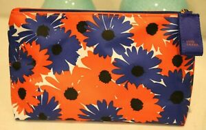 Estee Lauder Red White Blue Spring Floral Cosmetic Bag Makeup Travel Case New