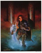 Fred Fields SIGNED AD&D TSR Fantasy Art Print ~ Thief & Magic Scroll