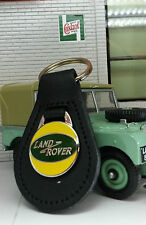 Land Rover Series 1 2 2a 3 Period Classic Quality Black Leather Key Ring Fob