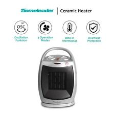 Homeleader Ceramic Space Heater 750W/1500W, Portable Electric Heater
