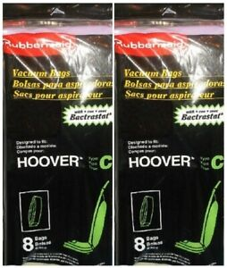 16 RUBBERMAID VACUUM CLEANER BAGS UPRIGHT HOOVER TYPE C FREE SHIPPING USA RARE