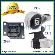 3PCS Motor Mount Set for Auto. 2005 2006 2007 Ford Focus 2.0L A5312 A2939 A2986