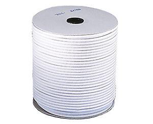 Corda elastica speciale marina nautica per teloni e teli 8 mm bianca 25 metri