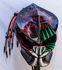 predator motorcycle helmet fiber optic dreadlocks spine scars airbrushed teeth