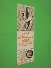 PUBLICITE - LA VACHE QUI RIT - GRATUIT DECALCOMANIE LIVRE JUNGLE - 1968 ( H3 )