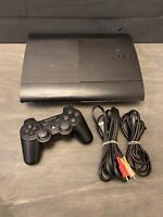 Sony PlayStation 3 PS3 CECH-4001B, 250GB,  4 games, 1 controllers