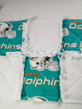 NFL MIAMI DOLPHINS RAGGEDY SECURITY BLANKET WITH PACIFIER