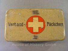 96463, Wehrmacht Heer Verband-Päckchen Blechdose, Lackierung in Dunkelgelb