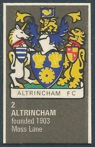 BARTHOLOMEWS 1970'S CREST #002-ALTRINCHAM