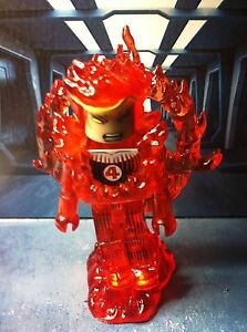 Marvel Minimates FLAME ON HUMAN TORCH Wave 48 DC Fantastic Four Johnny Storm