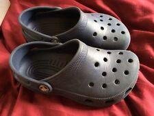 Blue Caymen Crocs Shoes Size M1 W3 Navy