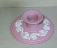 Wedgwood Jasperware Pink Candle Holder