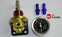 Adjustable Fuel Pressure Regulator with Filled Oil Gauge SARD Style