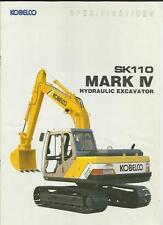 KOBELCO MARK IV SK 110 escavatori idraulici costruzione TRUCK Brochure MID 90's