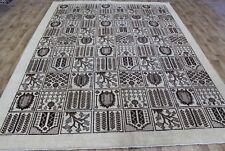 Antique Persian Tabriz carpet 10'8 x 8 FT Hand Made floral Persian carpet