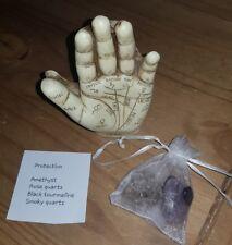 Six stone ROSE Crystal Quartz Tumblestones amethyst healing love protection